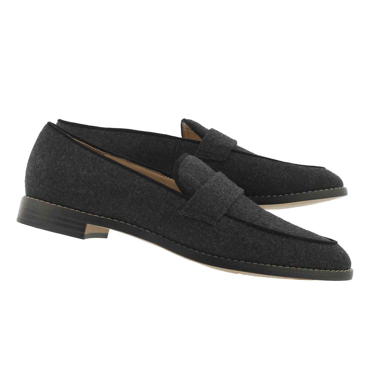 Lds Hudley grey casual slip on shoe