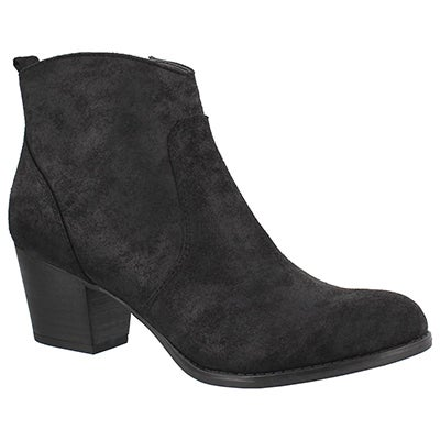 Lds Huette black slip on bootie