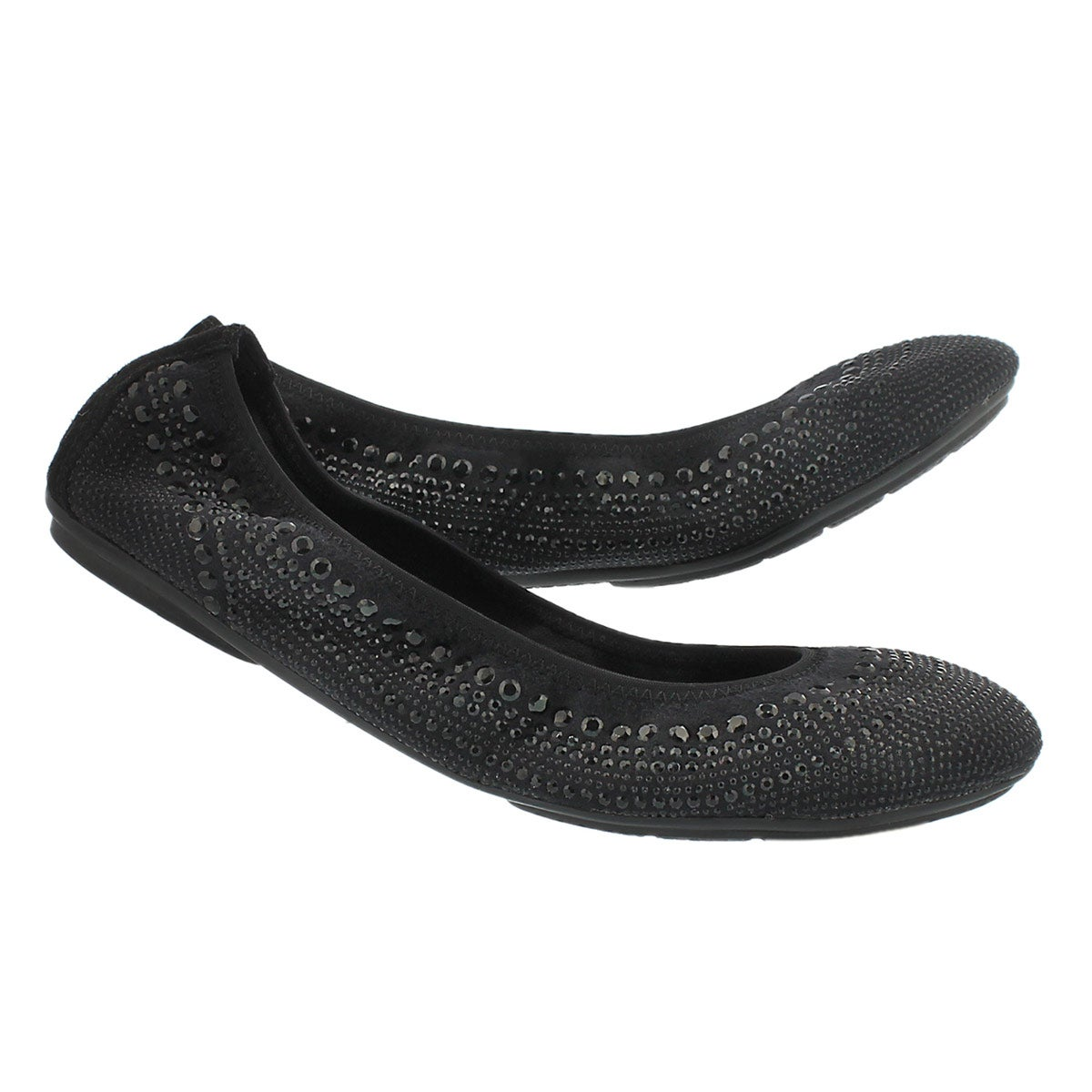 Lds Chaste Ballet black studded flat