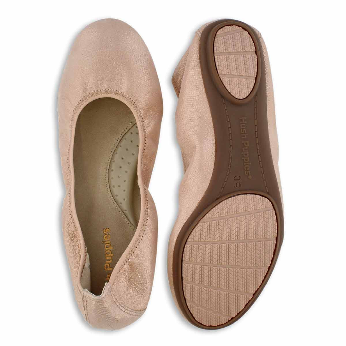 Lds Chaste Ballet pale pch leather flat