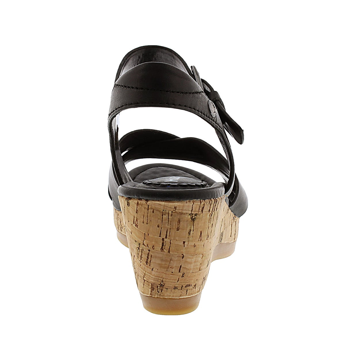 Sandales comp. Eva Farris, noir, fem