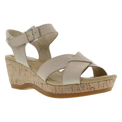 Lds Eva Farris off white wedge sandal