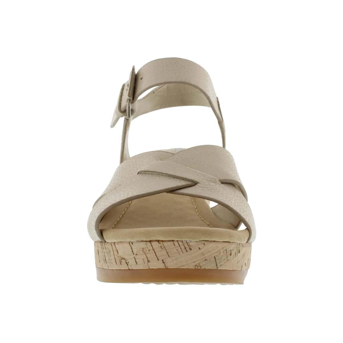 Lds Eva Farris off white wedge sandal