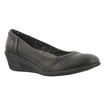 Lds Lily Ware black dress wedge