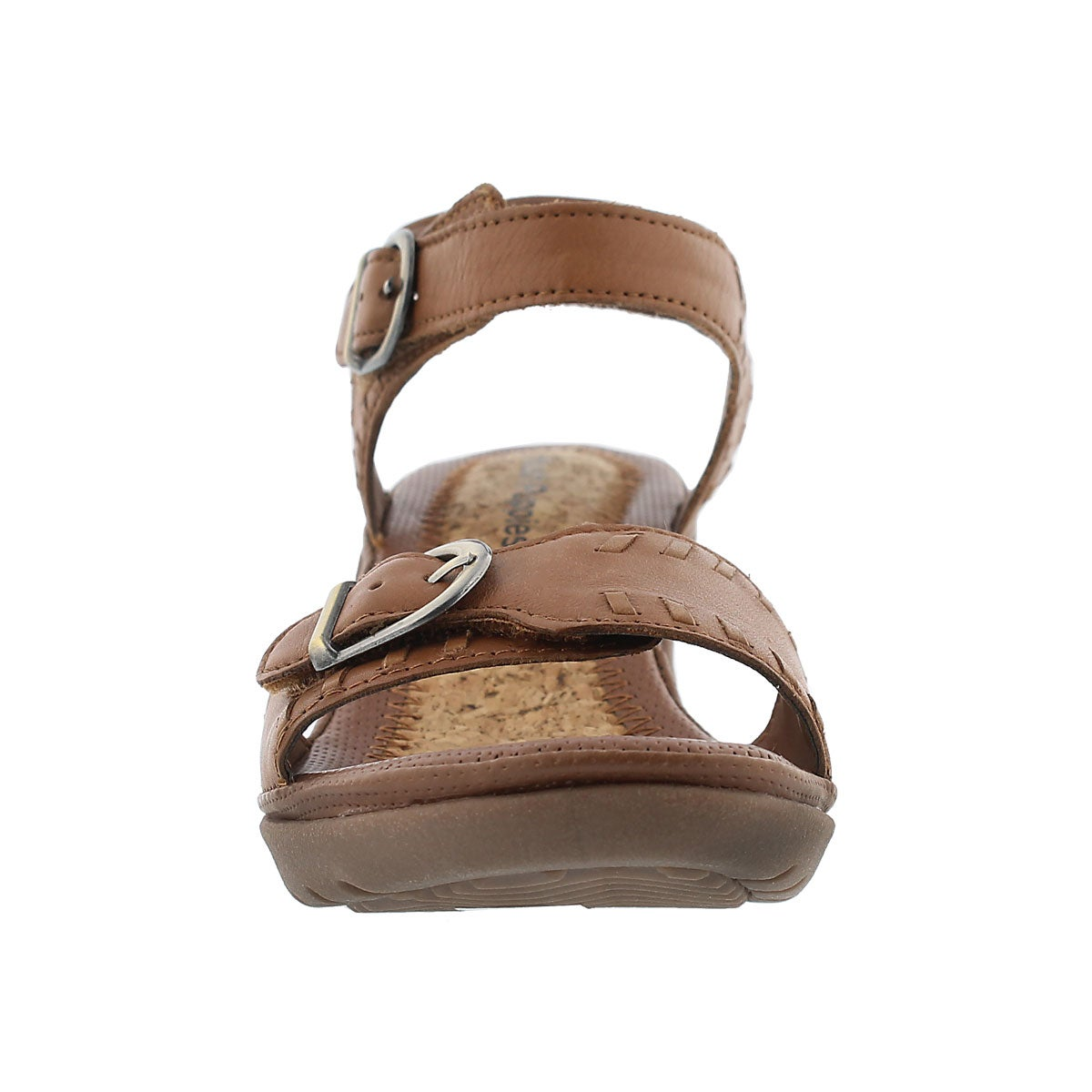 Sandales comp. Noelle Russo, havane, fem