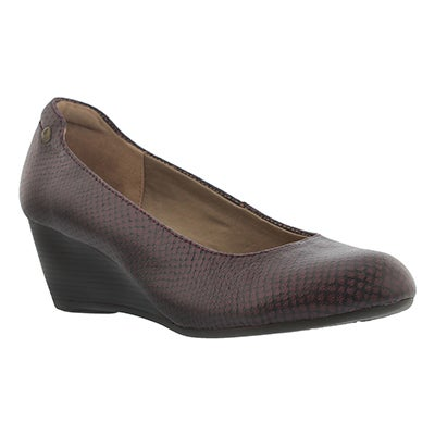Hush Puppies Escarpins FARAH RHEA, serpent rouge, femmes