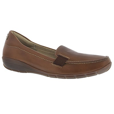 Lds Tilly Dandy tan slip on casual shoe