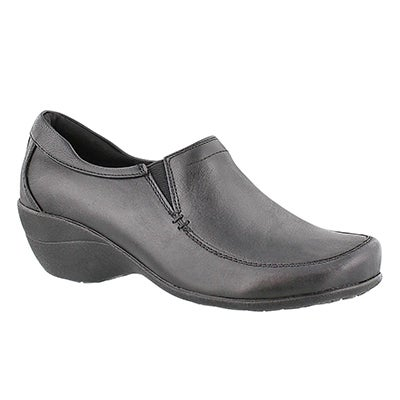 Hush Puppies Women's TABATHA KANA slip on black casuals