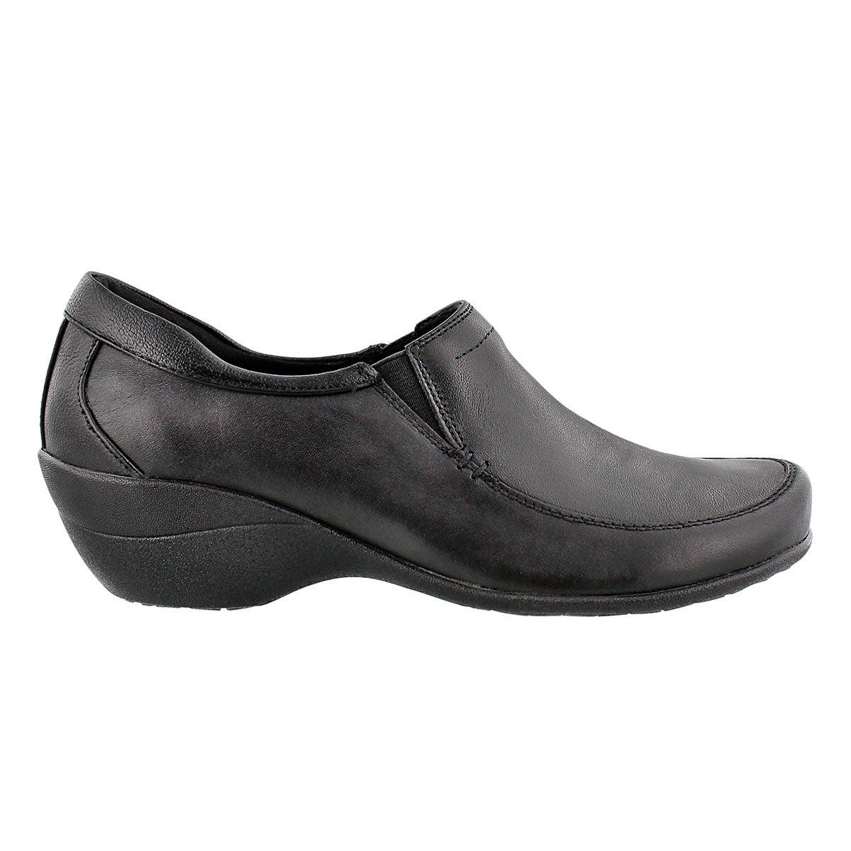 Lds Tabatha Kana Slip On blk  dress shoe