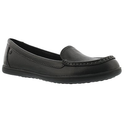 Hush Puppies Women's RYANN CLAUDINE black casual loafers
