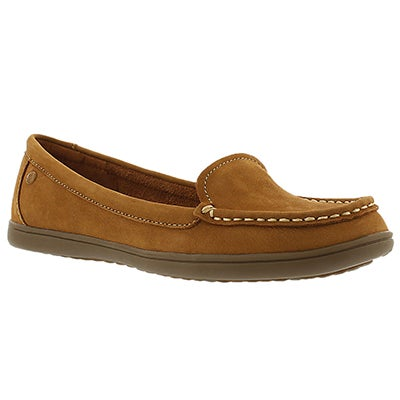 Hush Puppies Women's RYANN CLAUDINE tan casual loafers