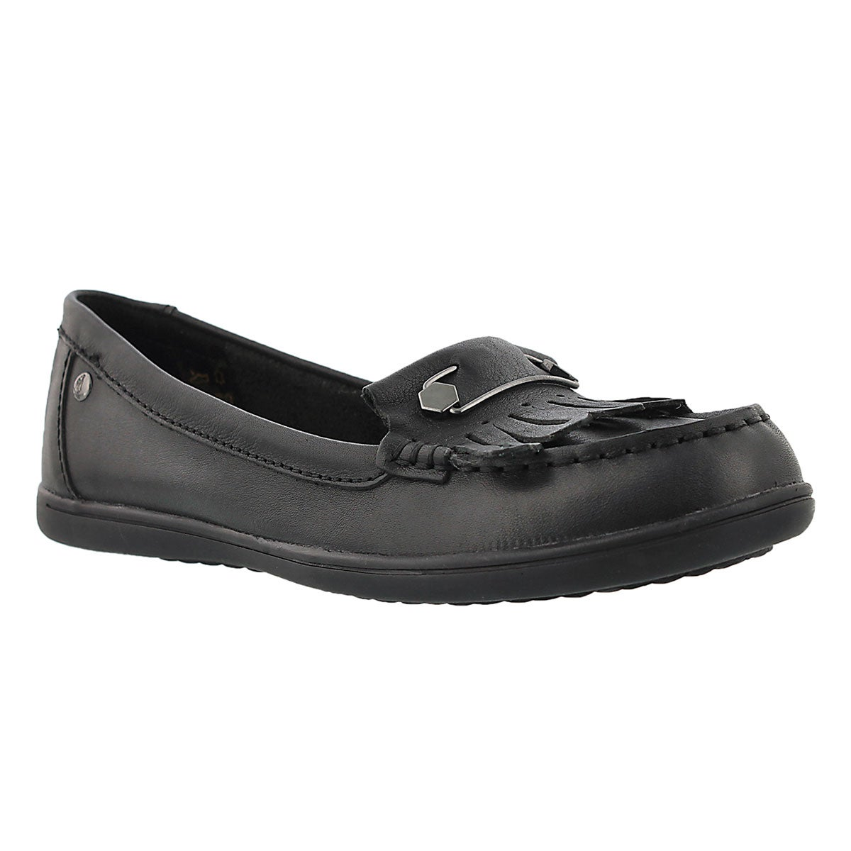 Women's RYLIE CLAUDINE black leather moccasins