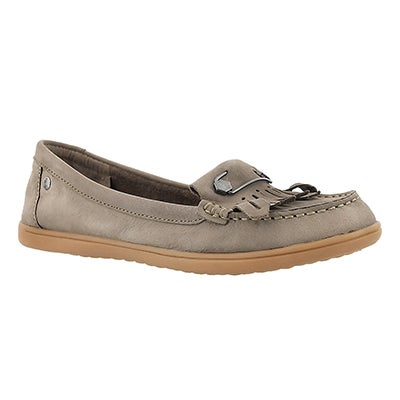 Hush Puppies Women's RYLIE CLAUDINE taupe nubuck moccasins