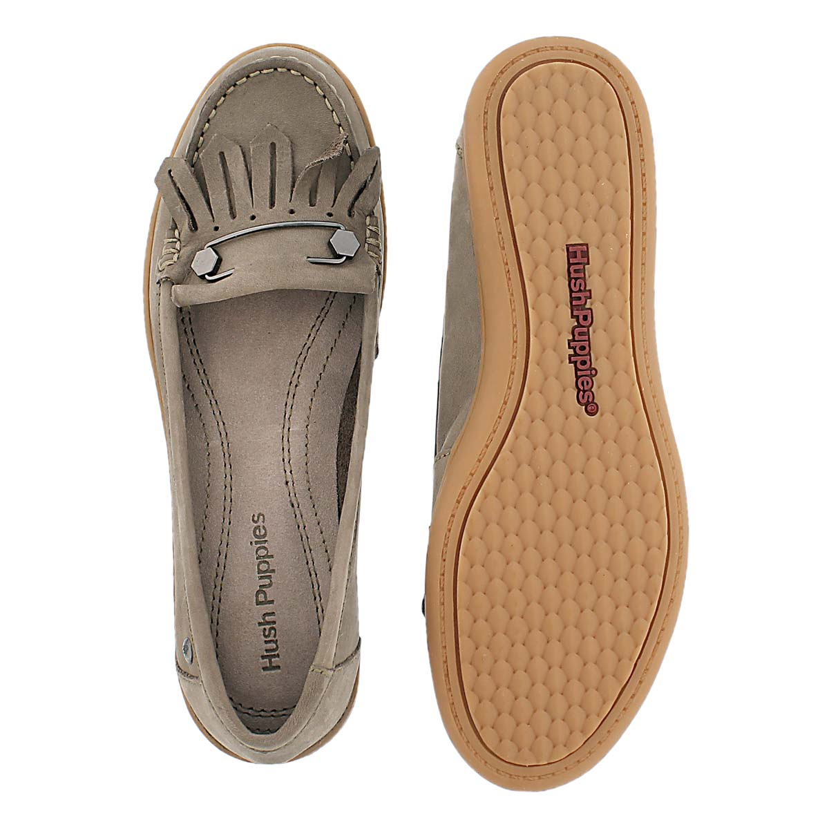 Lds Rylie Claudine taupe nubuck moccasin