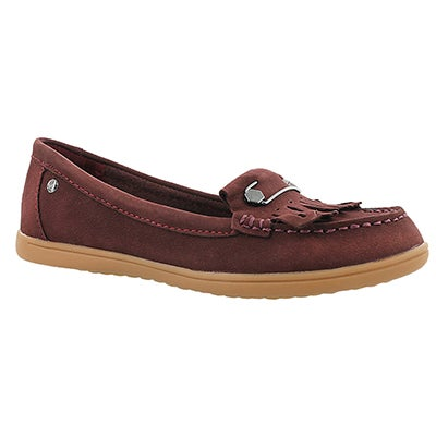 Hush Puppies Women's RYLIE CLAUDINE wine nubuck moccasins