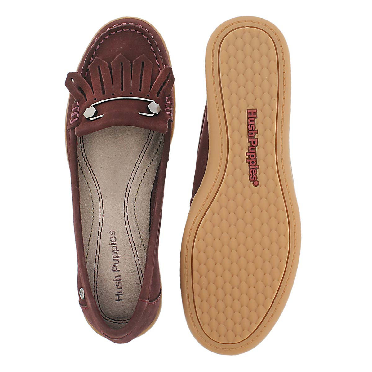 Lds Rylie Claudine wine nubuck moccasin
