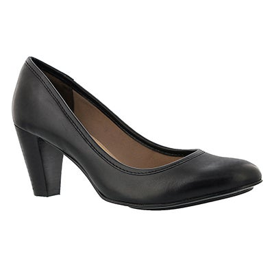 Lds Jemma Lennox blk lthr dress heel