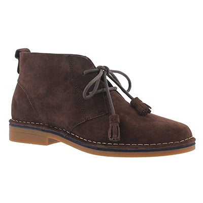 Hush Puppies Women's CYRA CATELYN dark brown chukka boots