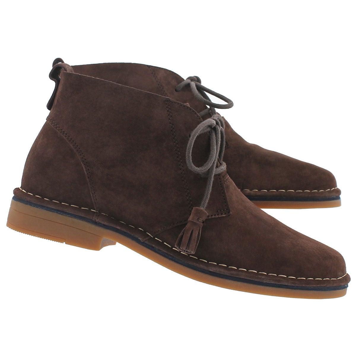 Lds Cyra Catelyn dk brown chukka boot