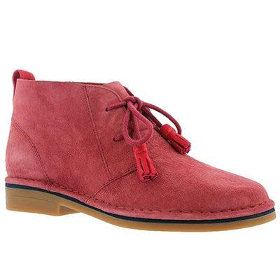 Hush Puppies Women's CYRA CATELYN dark red chukka boots
