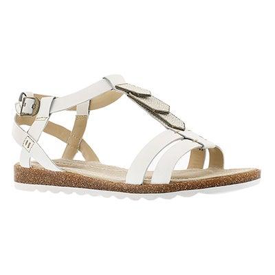 Lds Bretta Jade white gladiator sandal