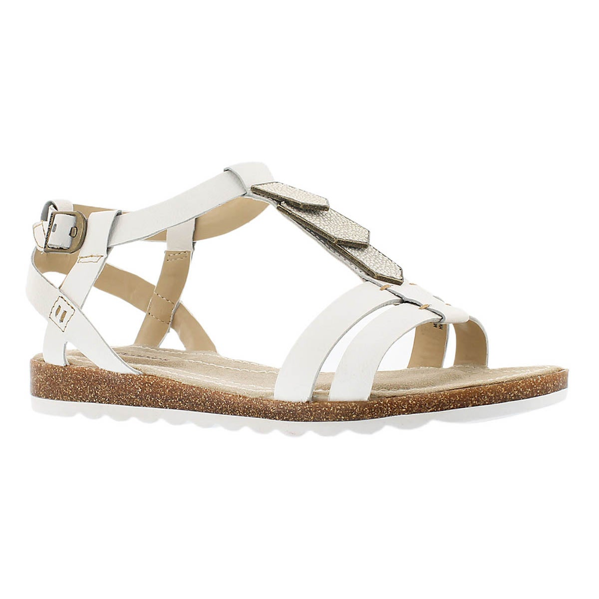 Women's BRETTA JADE white gladiator sandals