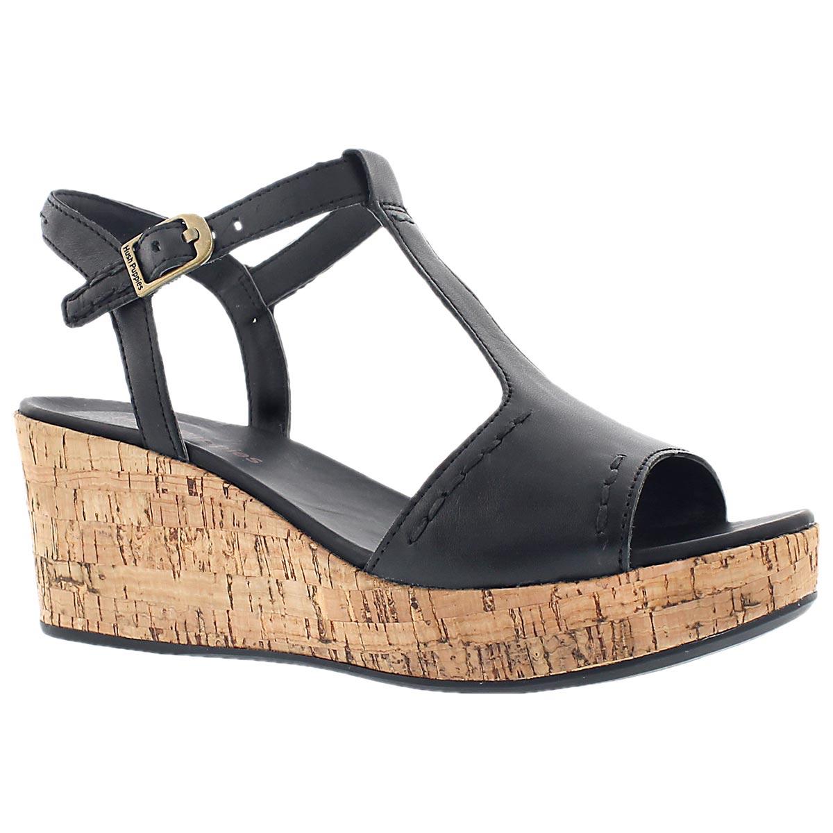 Lds Blakely Durante blk tstrp wdg sandal