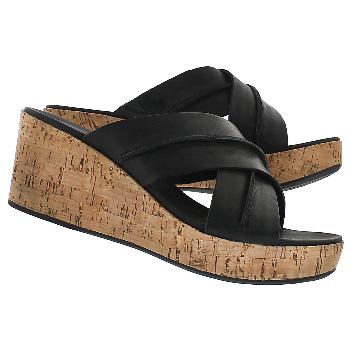 Lds Belinda Durante black wedge sandal