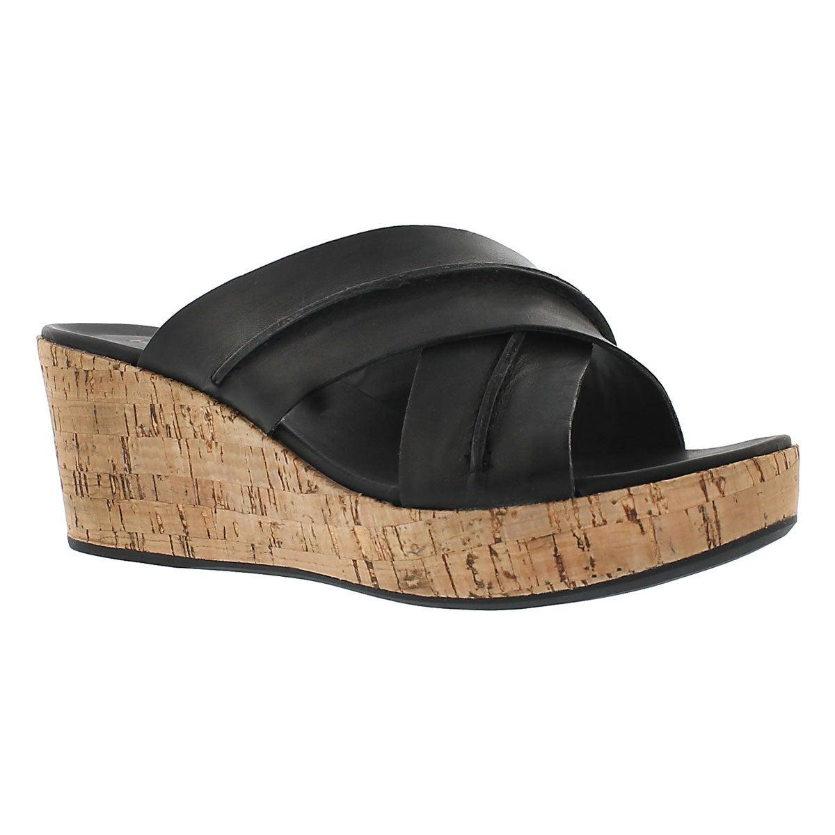 Women's BELINDA DURANTE black wedge sandals
