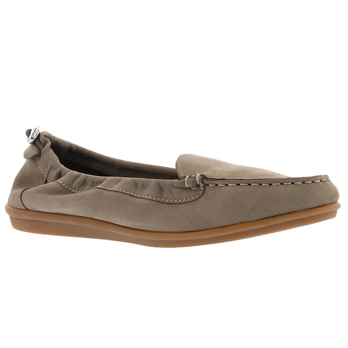 Lds Endless Wink taupe casual slip on