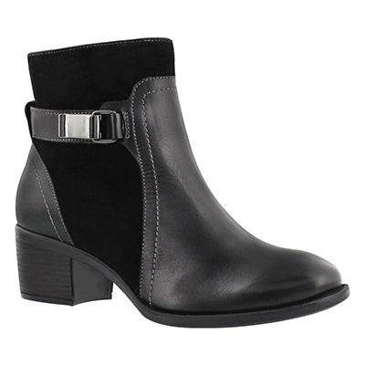 Hush Puppies Women's FONDLY NELLIE black dress ankle boots