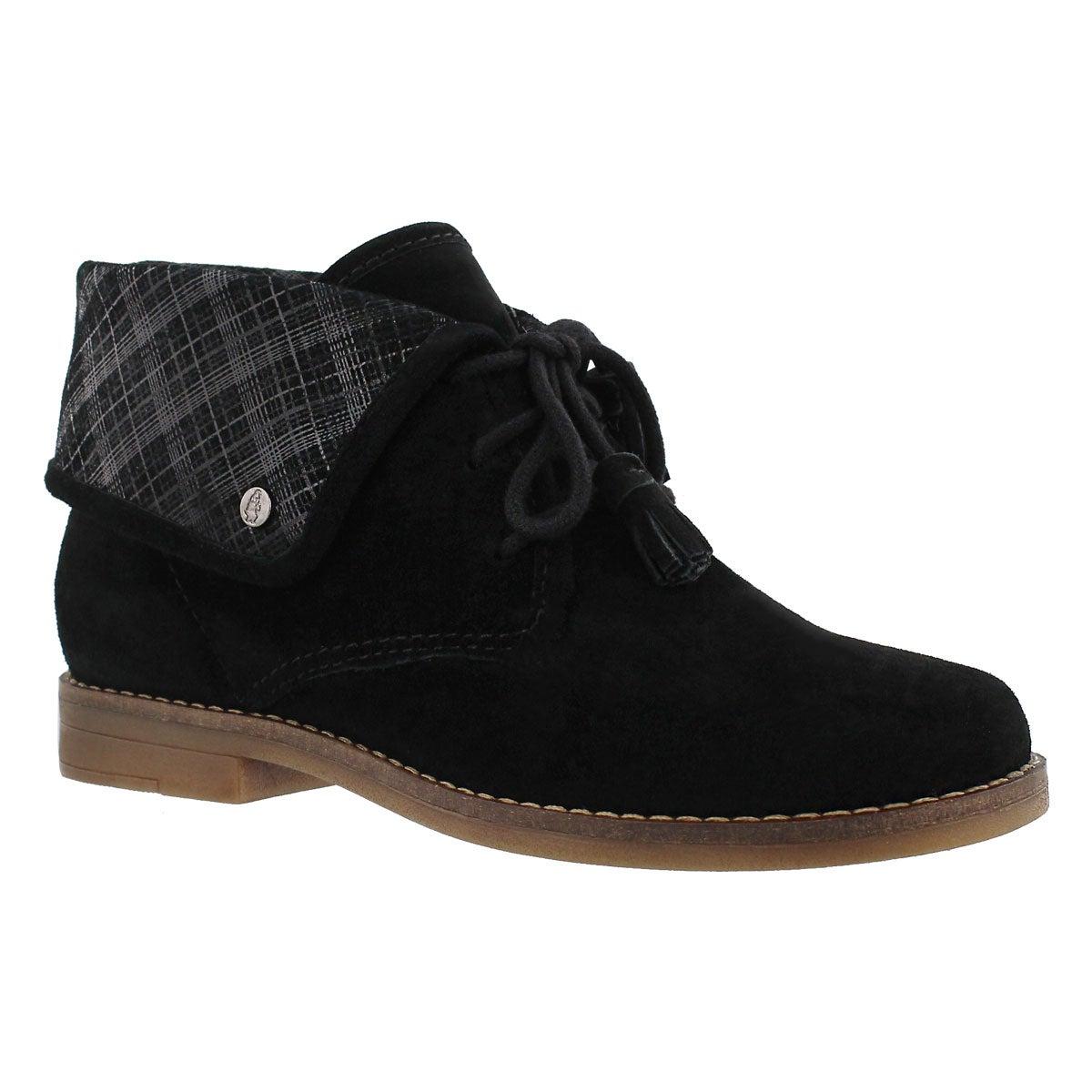 Women's MILOS CAYTO black foldover cuff booties
