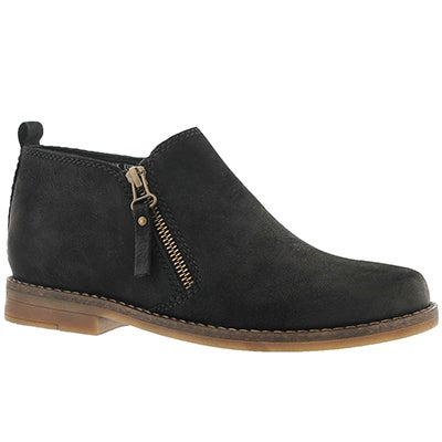 Hush Puppies Women's MAZIN CAYTO black zip up casual boots