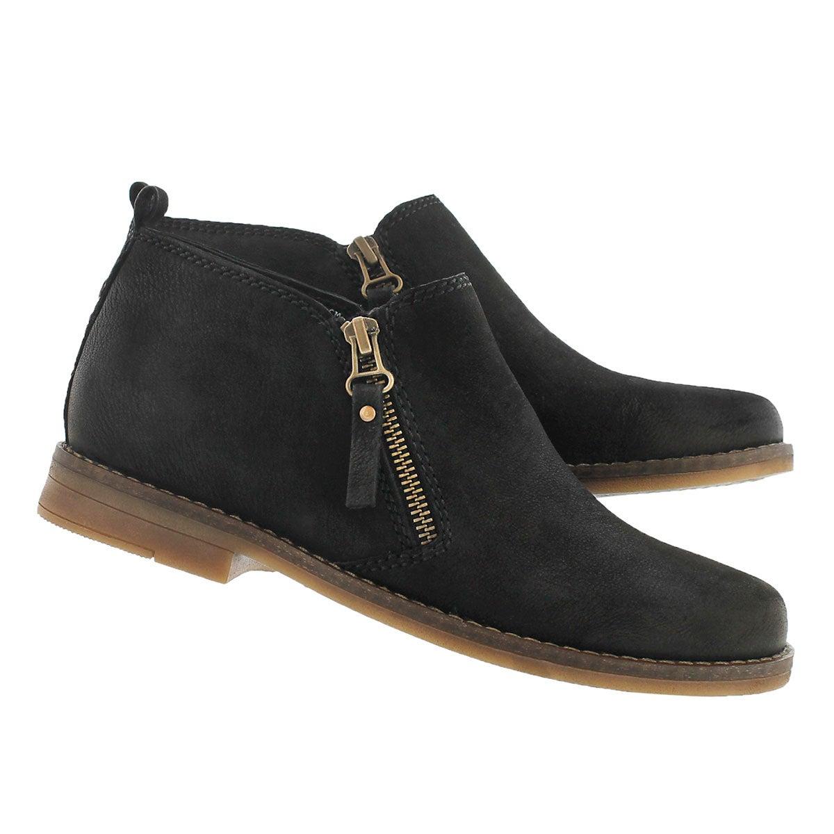 Lds Mazin Cayto black zip up casual boot