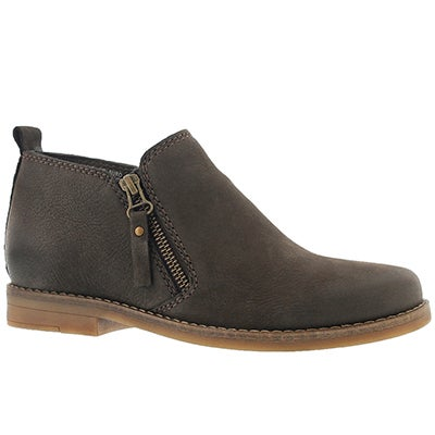 Hush Puppies Women's MAZIN CAYTO dark brown zip up casual boots