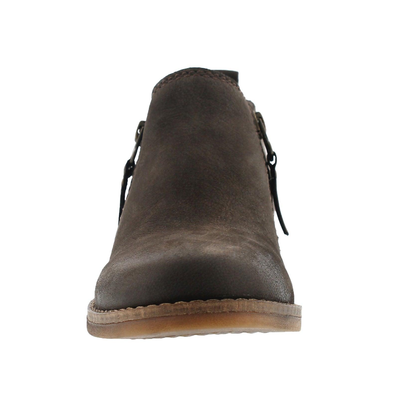 Lds Mazin Cayto dkbrn zip up casual boot