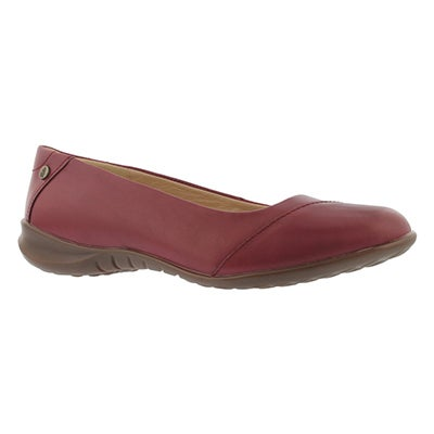 Lds Linnet Bria dark red casual flat