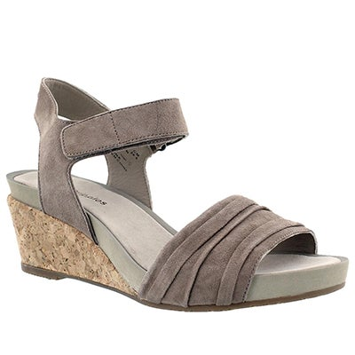 Lds Eivee Cassale taupe wedge sandal