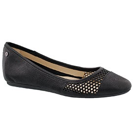 Lds Liza Heather black casual flat