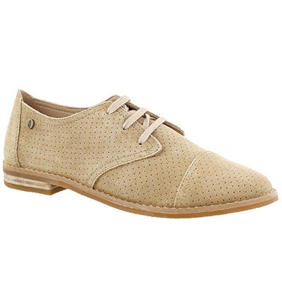 Lds Aiden Clever light tan casual oxford