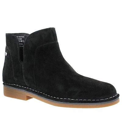 Lds Claudia Catelyn black slip on boot