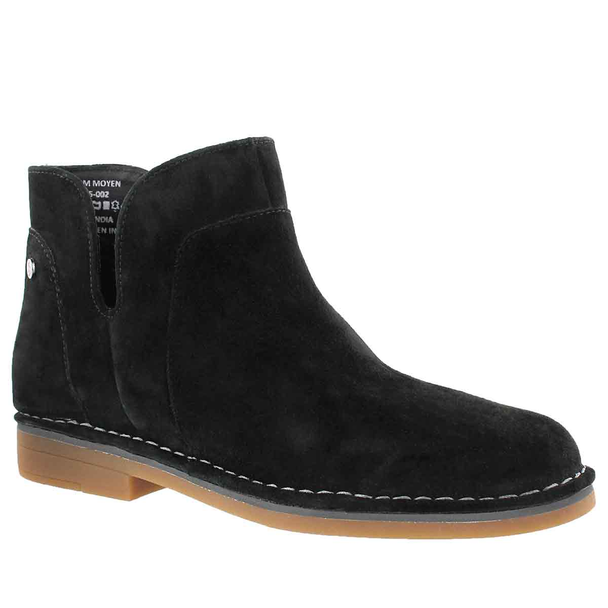 Women's CLAUDIA CATELYN black slip on boots