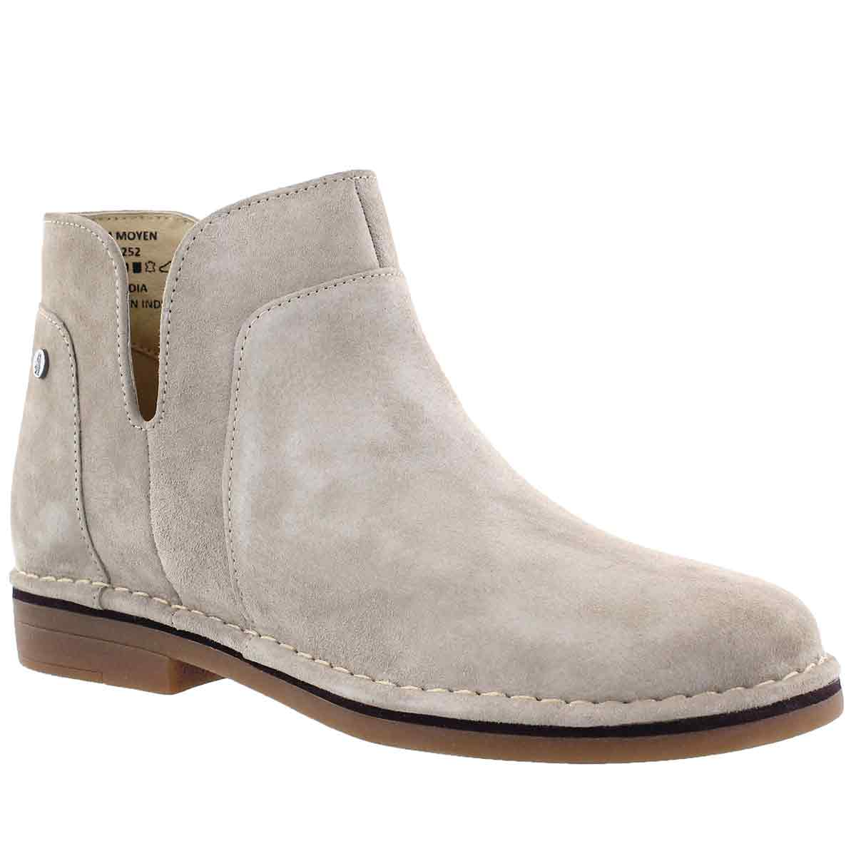 Women's CLAUDIA CATELYN taupe slip on boots