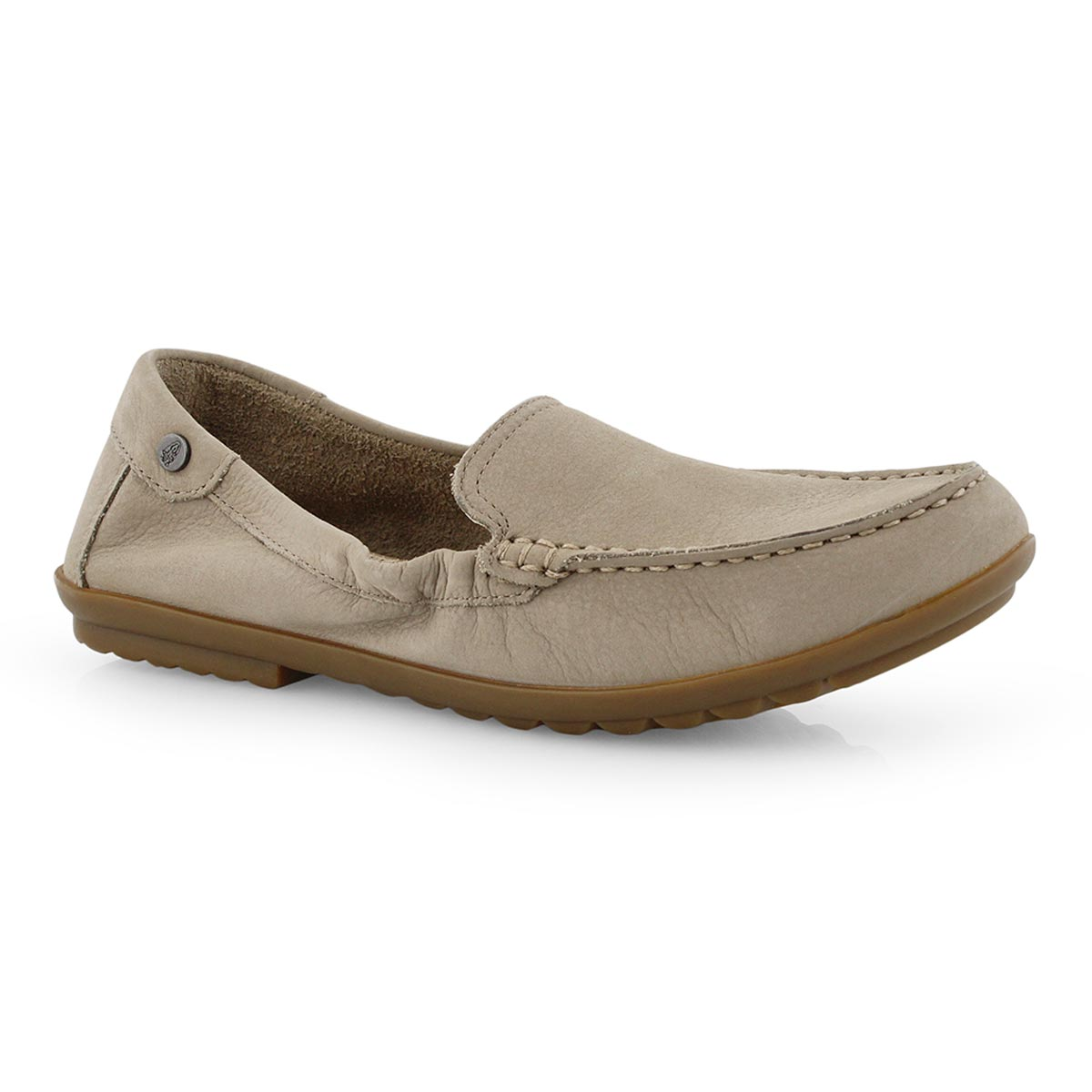 Lds Aidi Mocc taupe casual slip on