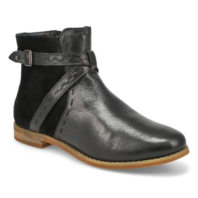 Lds Chardon Belt black casual ankle boot
