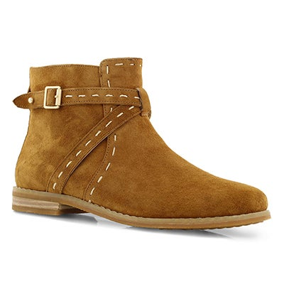 Lds Chardon Belt camel casual ankle boot