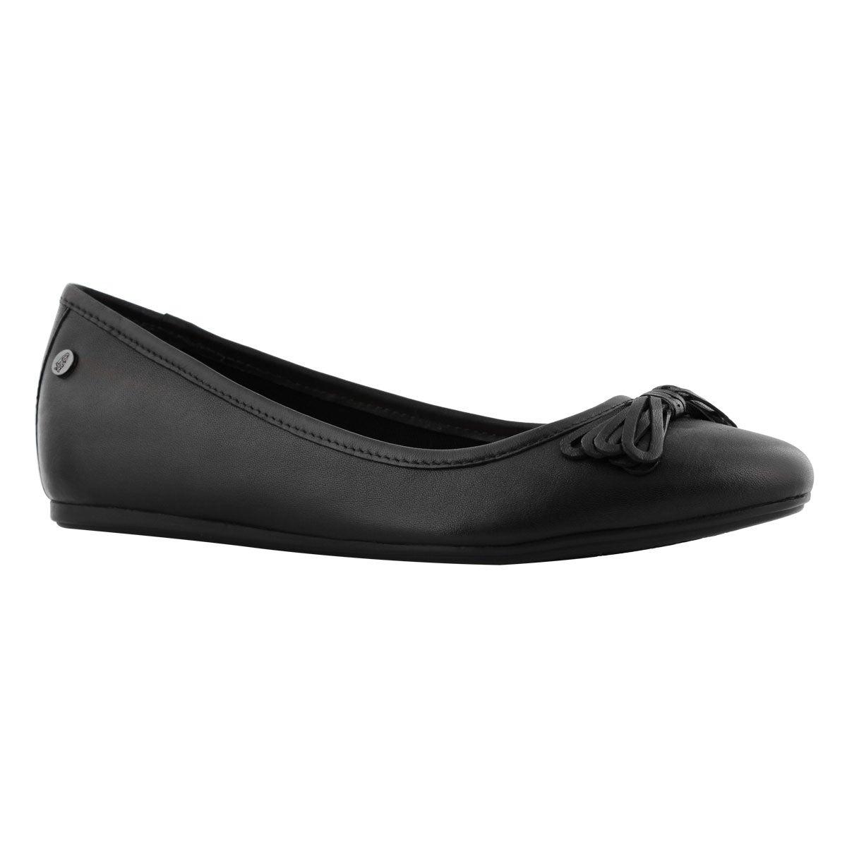 Lds Heather Bow Ballet black flat