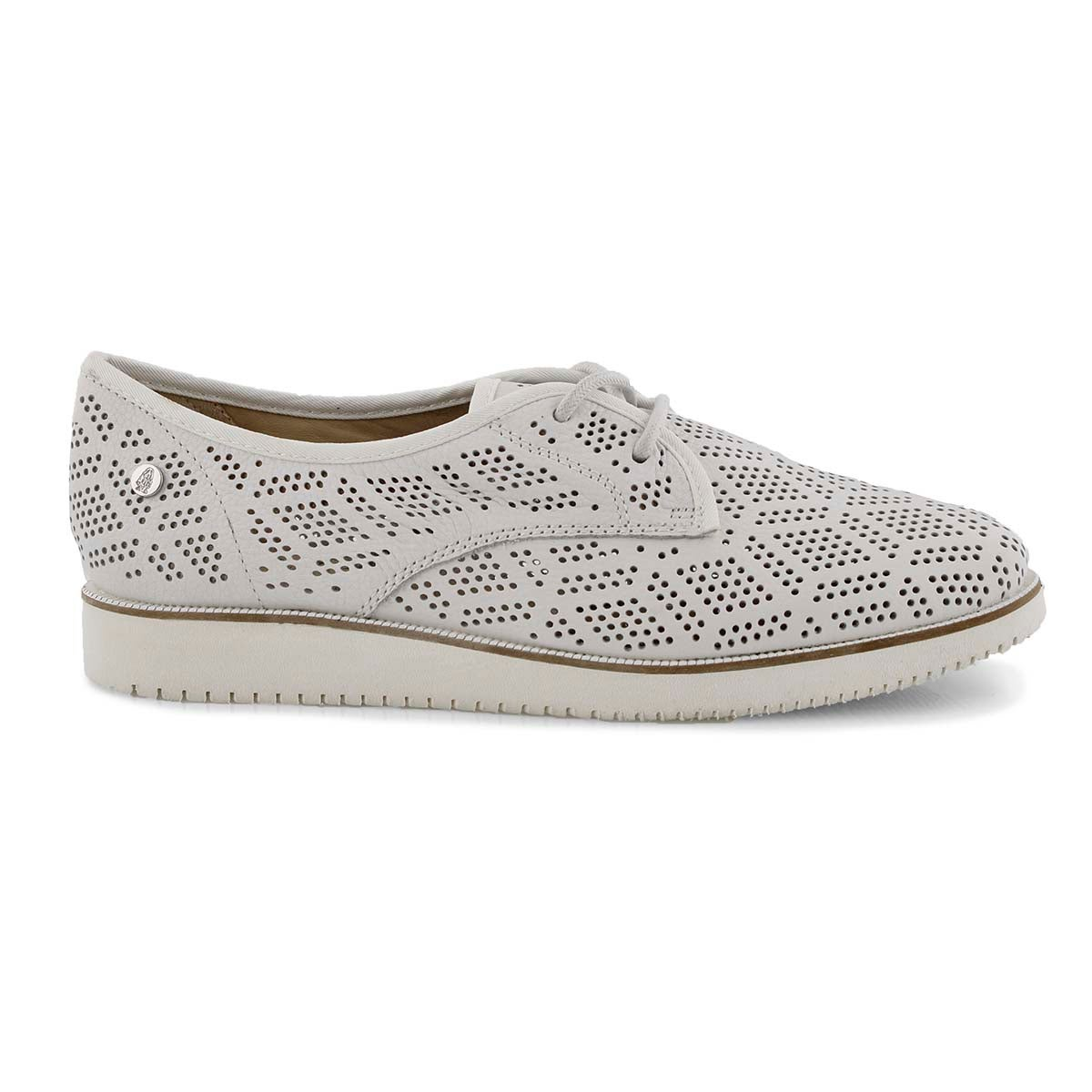 Lds Chowchow Perf Lace wht casual oxford