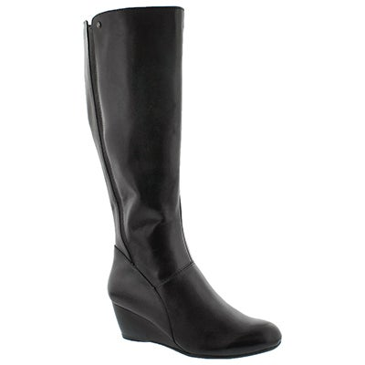 Lds Pynical Rhea blk wtpf knee high boot