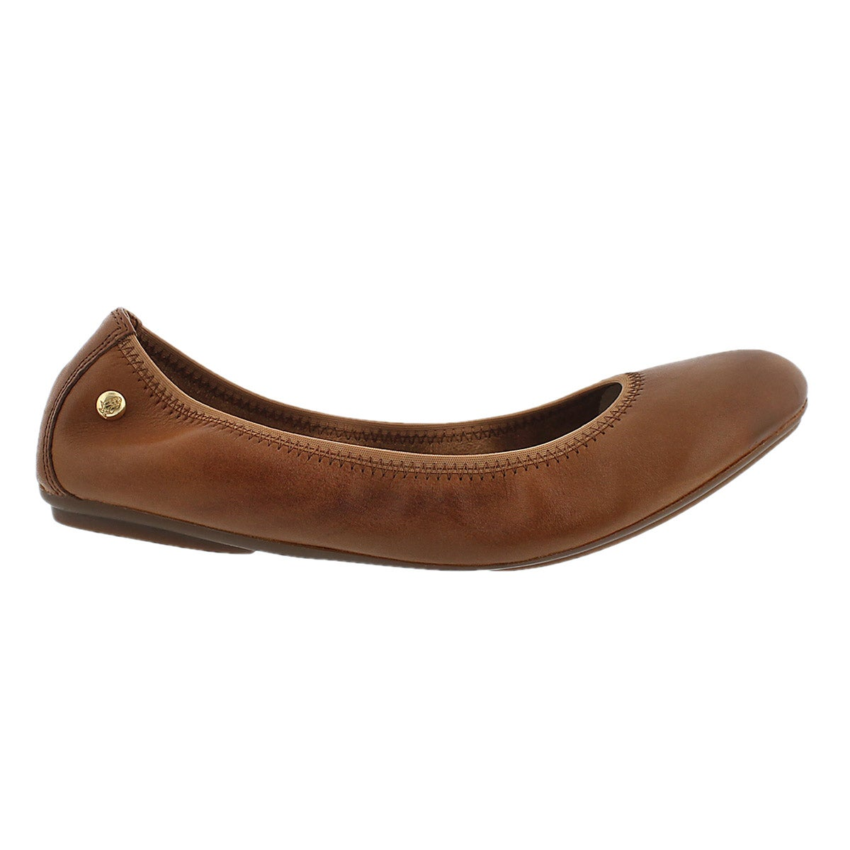 Lds Chaste Ballet cognac leather flat